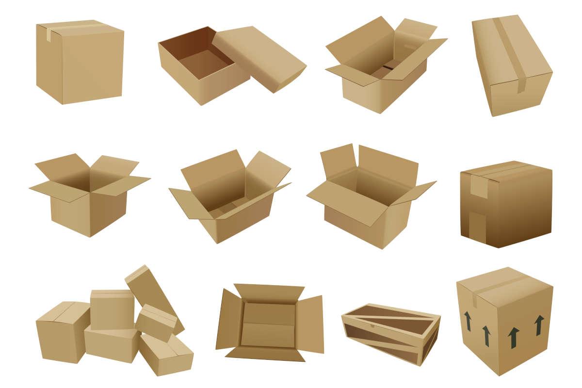 Standardverpackungen (auf Wunsch auch bedruckt)