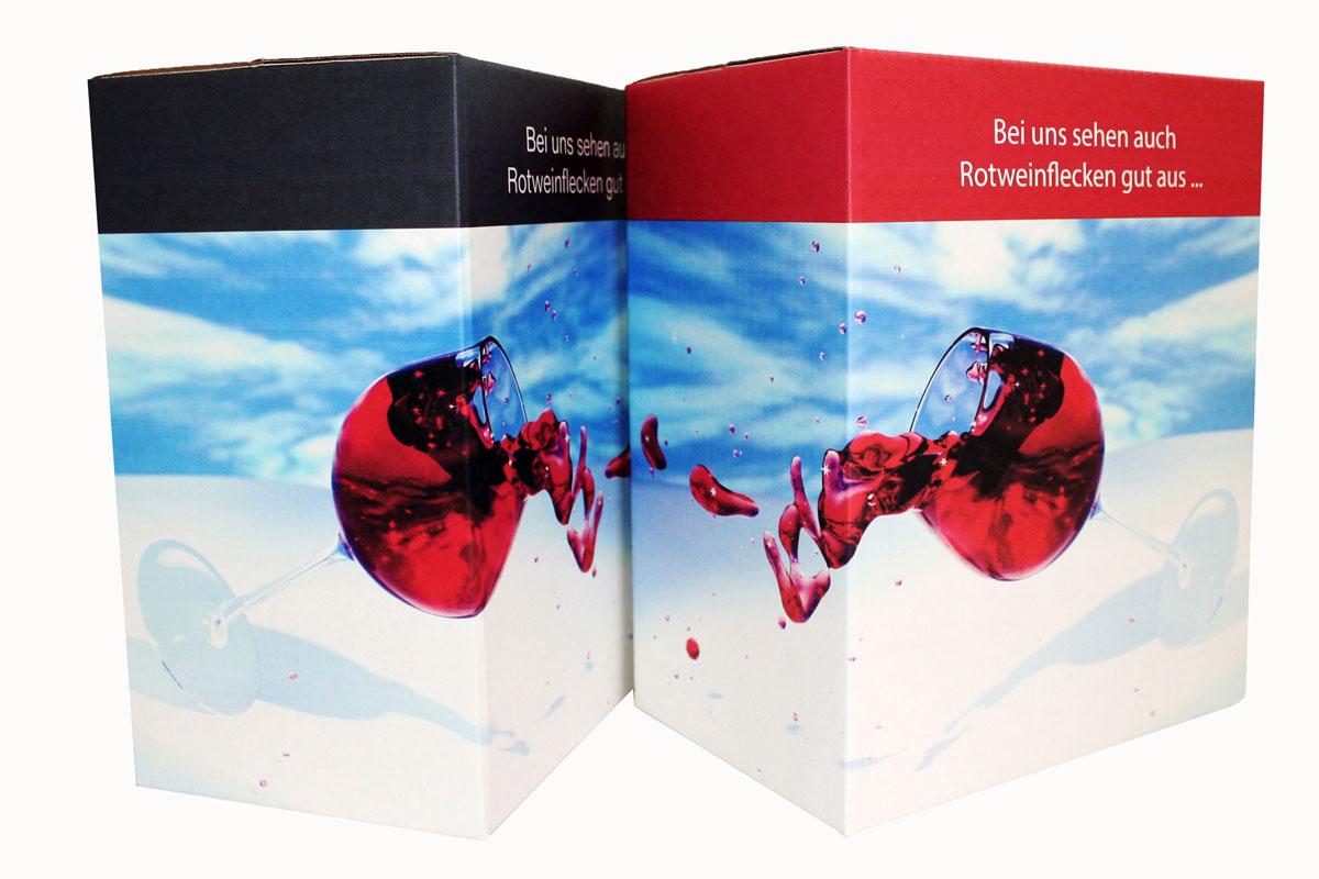 Bedruckte Digitaldruck-Verpackungen